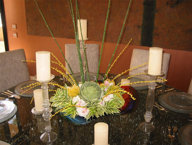 Centerpiece with succulents